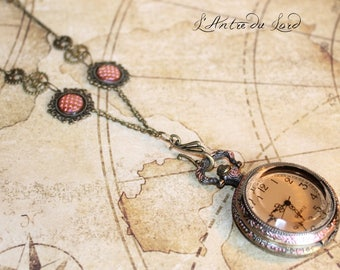 Watch FOB necklace Flake copper Dragon