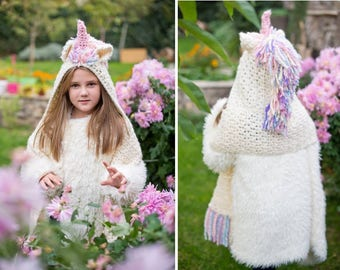 Unicorn Hooded Scarf, Unicorn hoodie girls