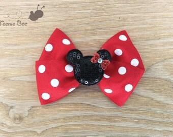 Minnie Mouse Hair Bow - Minnie Hair Bow - Minnie Mouse Bow - Disney Hair Bow - Disney Bow - Disney Trip Bow