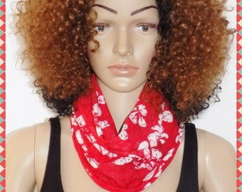 Original scarf, cowl tube scarf! RED! Jersey Red size 54cm.x 31.5 cm belicious delicious creation