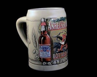 1991 Anheuser-Bush Beer Stein, Budweiser Beer Stein, Beer Mug, Collectible, Budweiser Collectible