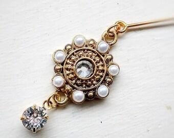 Fancy Hijab Pin / Hijab Accessories / Teeka / Fancy Pin / Brooch / Swarovski / Hijab / Eid / Eid Gift / Al Amira Swarovski Hijab PIn