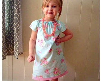 READY TO SHIP, Girls spring dress, birthday gifts, photo outfits, flower dress, flower girl dress, spring fashion, peasant dress