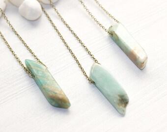 Throat Chakra Necklace, Amazonite Necklace, Blue Stone Necklace, Gemstone Necklace, Gemstone Jewelry, Chakra Jewelry, Chakra Healing