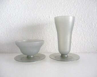 Set of Tall and Short Tupperware Dessert Cups