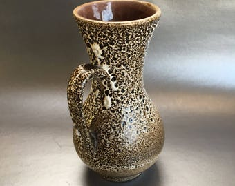 "8"" Fat Lava West German Pottery Mid Century Pitcher Ewar Jug"