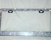 Crystal Rhinestone License Plate Frame made with Swarovski Crystals, Car Swag, Bling Car Accessories