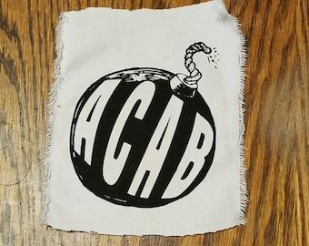 ACAB - All Cops Are Bastards  punk patch