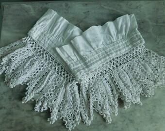 Antique crochet lace  White cotton lace  Antique lace trims  Sewing projects  White crochet cuffs