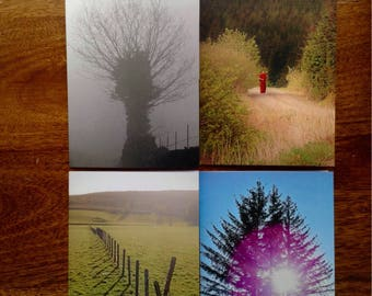 Pack of Four Scenic Greetings Cards ( Scotland and England)