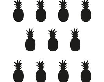 Pineapple stickers for wall decoration or every surface - very easy to install