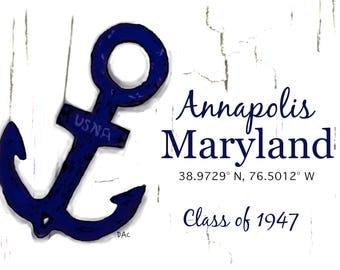 Custom Annapolis Anchor Cards