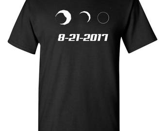 Solar Total Eclipse Moon Sun Phases August 21 2017 Men's Tee Shirt 1650
