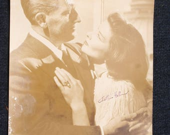 """Katherine Hepburn and Spencer Tracy rare 1948 promo-movie photograph sepia 10"""" by 13"""""""