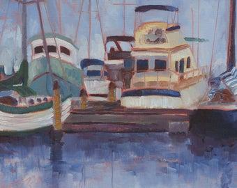 Florida Dock - Original Oil on Canvas