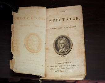 1770's Rare Scottish Antique Edinburgh Edition The Spectator, Volume the Seventh, Addison, Joseph, Richard Steele, et al.