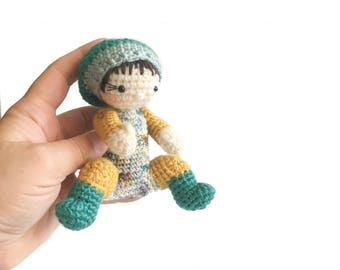 Crochet Baby - Big Sister Gift - Baby Doll - Poseable Baby Doll - Birthday Gift - Babywearing Doll