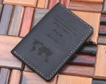 Dual passport wallet etsy leather travel wallet leather passport cover personalized world map passport holder custom text gumiabroncs Choice Image