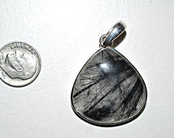 Rutilated Quartz Silver Pendant - Rutilated Quartz Pendant - Rutilated Quartz Necklace Pendant , 925 Sterling Silver