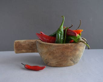 Antique Scoop  Wooden Store Ladle for Grains  Great Patina Handmade 1 Piece Wood 1880-1910 Natural wood Hand Carved