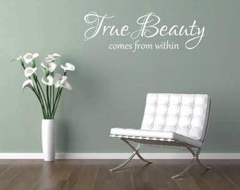 True Beauty comes from within wall art sticker Beauty Salon girls bedroom lounge living room insprational quote home decor