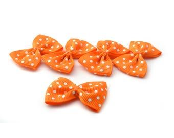 Set of 5 polka dot ribbon bow