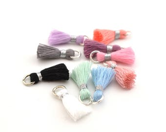 Set of 10 small tassels