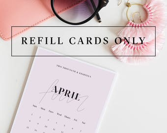 REFILL CARDS ONLY **My Type of Calendar Edition 3 // 2018 Desk Calendar