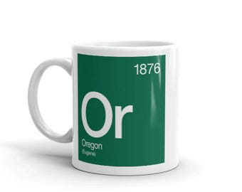 Oregon Periodic Table Mug
