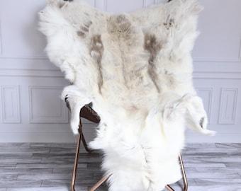Reindeer Hide | Reindeer Rug | Reindeer Skin | Throw XL Large - Scandinavian Style #15RE24