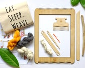 Complete Beginners Weaving Kit MEDIUM size - Learn to Frame Loom Weave with Le Petit Moose