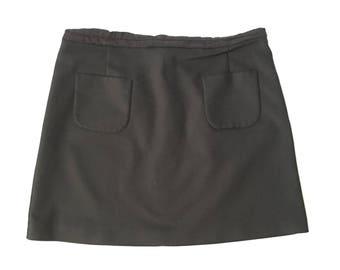 90's Black A-line Mini Skirt