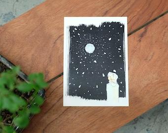 """Print """"Moon Disco"""" din A5"""