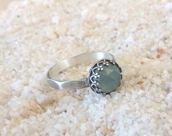 Chalcedony - stones and sterling silver ring