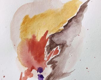 Desert Watercolor Abstract Painting
