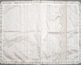 Christening Blanket B008 | Baptism Blanket White or Ivory | Handmade 100% Silk | Great Christening Gift