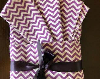 Oversize Receiving Blanket and Burp Cloth Set
