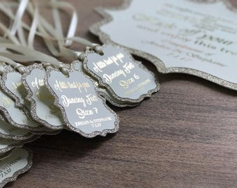 stunning Handmade flip flop sign with 20 tags glitter and foil personalised
