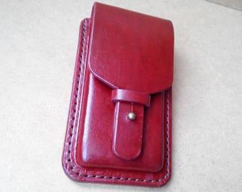 Handmade Leather Phone Holster Case iPhone 5, 5S, 5C, 6, 6S,6plus, 6Splus 7, 7 plus