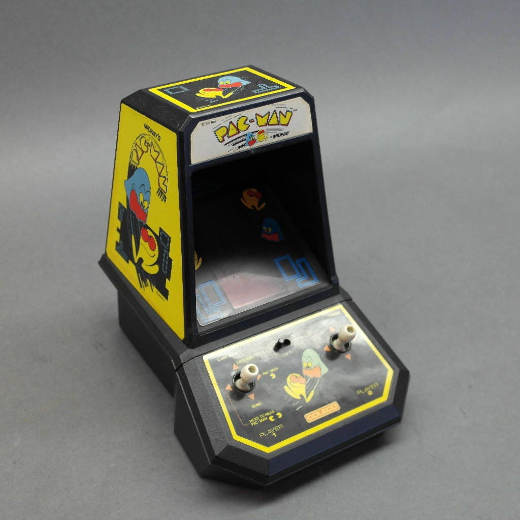 Pac-Man Table Top Arcade Game- Vintage Coleco Midway Video Game- Classic  Graphics