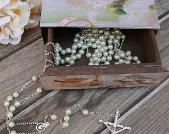 Special Buy!! Beautiful Silver Lasso and a English Wooden Treasurer Chest, Lasso, Unity Cord, Wedding lasso, Wedding Treasurer Chest, Lasso