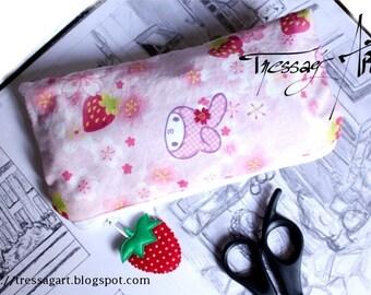 School Kit Bunny kawaii pink and his red Strawberry Kit school Bunny rabbit