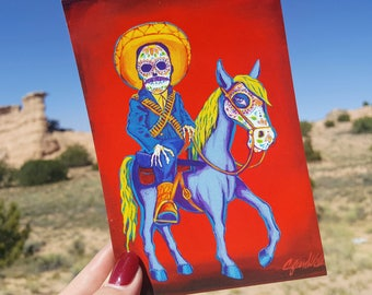 4x6 Pancho Villa Postcard of Painting by Sean Wells//Mexican Revolutionary// Legend of the Southwest