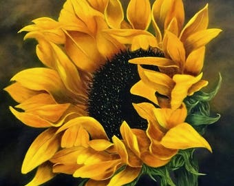Painting on Canvas, Acrylic Painting Flower|Landscape|Sunflower Painting,Original Painting, Painting,Wall Art, Canvas Art, Original