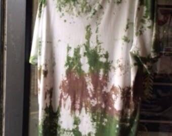 Tie dye top handmade - X L