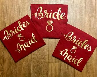 Matching Bride and Bridesmaid Shirt Set
