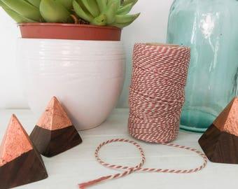 Set Of 3- Walnut and Copper Leaf Pyramid