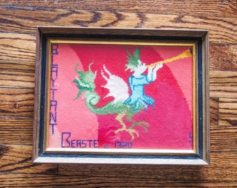 Blatant Beast Faerie Queene Vintage Medieval Needlework Replica English Major Gift