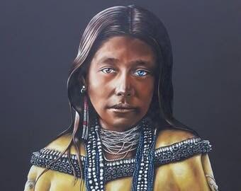 "Canvas Print of ""Girl of the Water"" by Oklahoma Cherokee Artist Bryan Waytula"