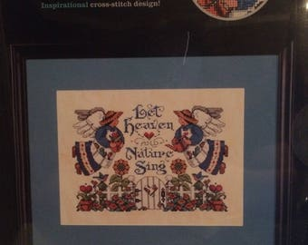 Let Heaven and Nature Sing Counted Cross Stitch Kit